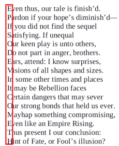 As highlighted, the first letter of each line reminds us that Episode VII is coming.  However, that may not be the only tease...